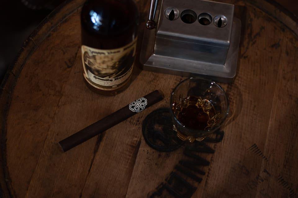 Reclaimed Bourbon Barrel Top Lazy Susan