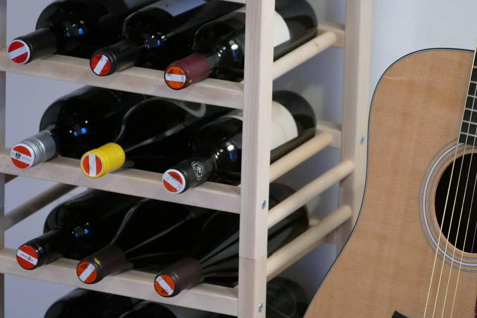 Handmade Horseshoe Wine Rack
