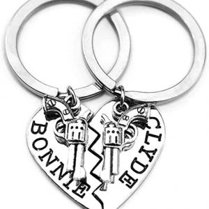 Bonnie Clyde Keychains