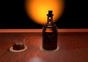 Bourbon Bottle Lamp