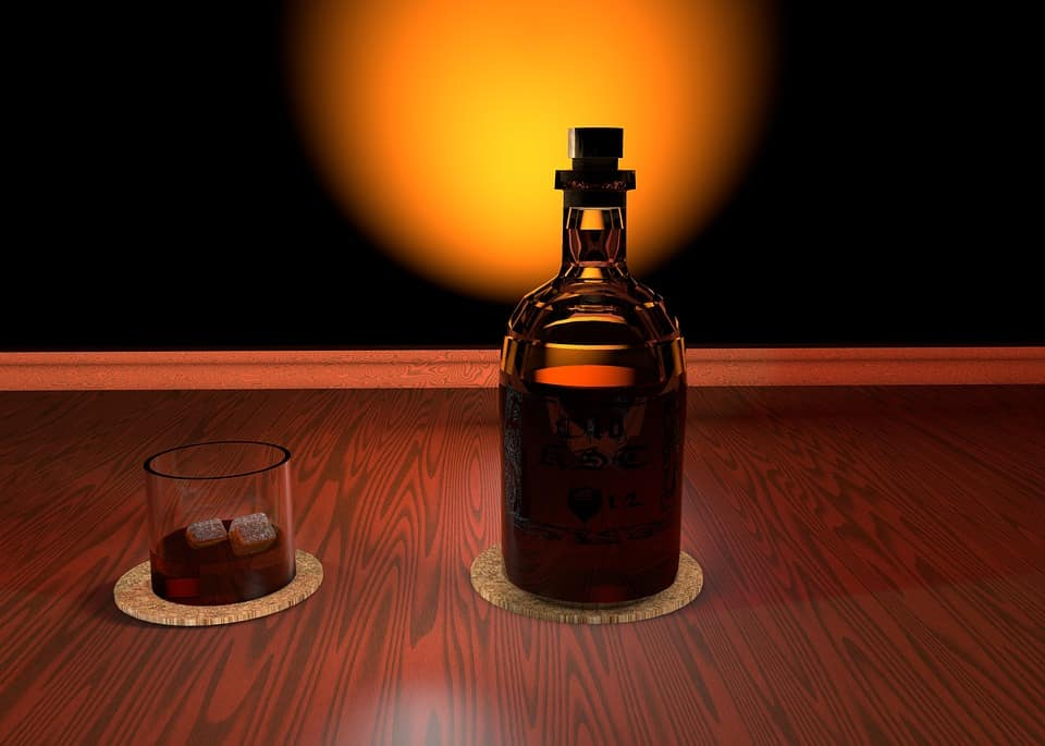 Bourbon Bottle Lamp
