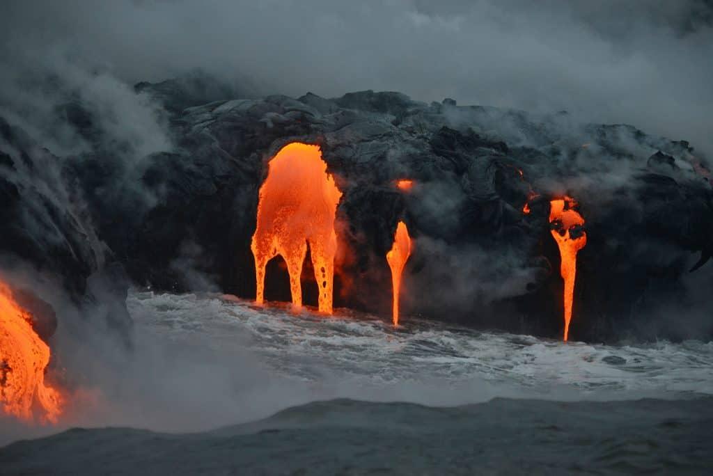 Lava boat tours