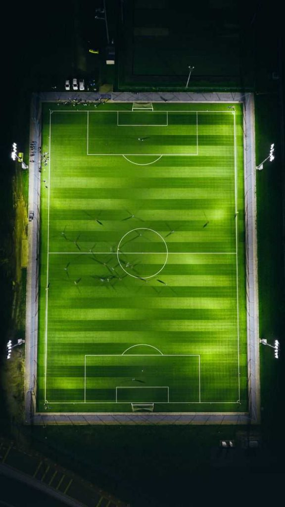 Soccer game ground