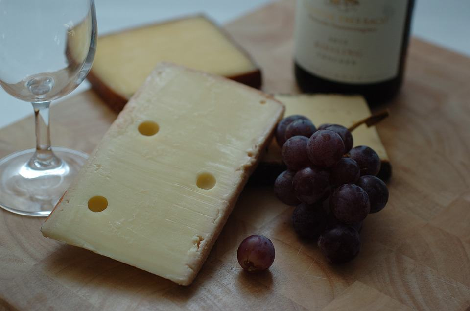 grape wine and cheese