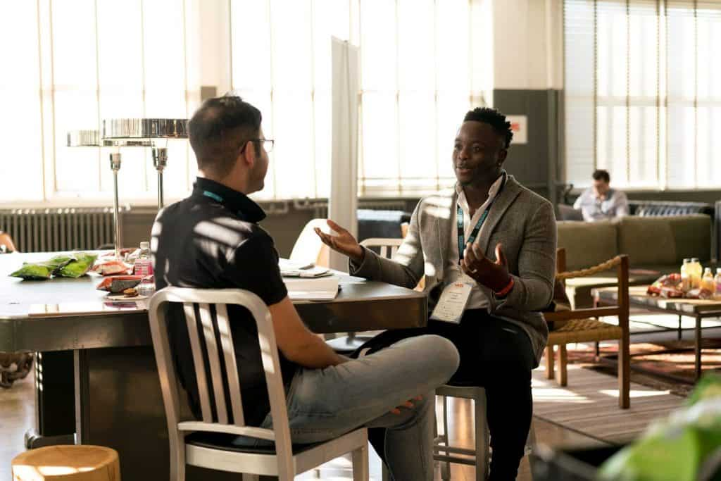 men conversation