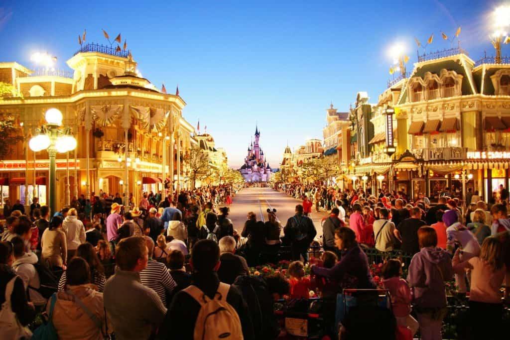 Enjoying Disneyland