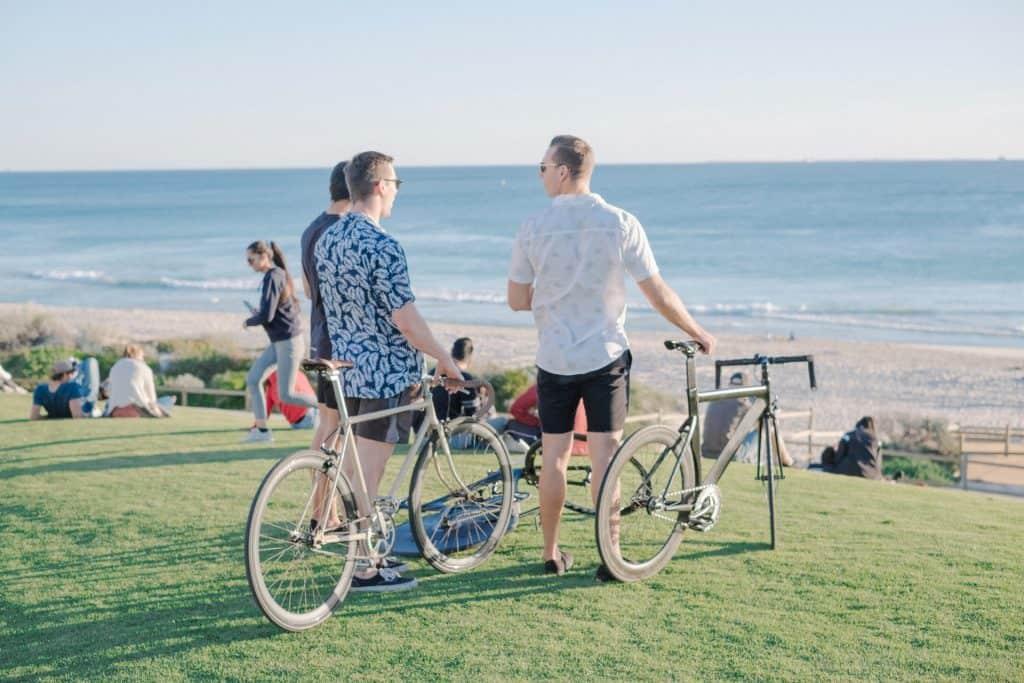 cycling and enjoying the beautiful scenery