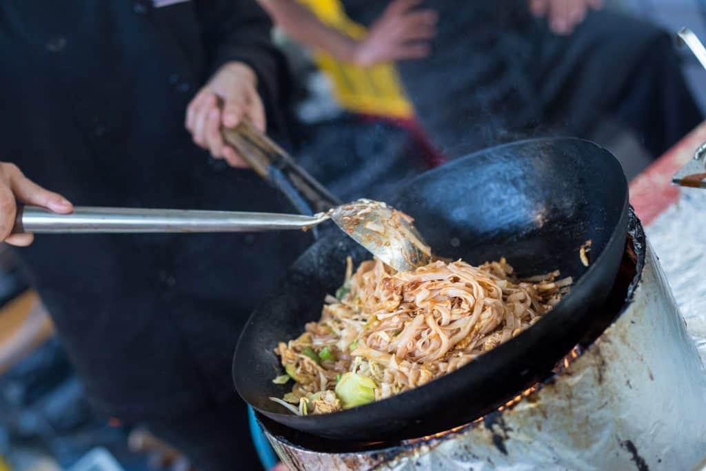 Street food cuisine