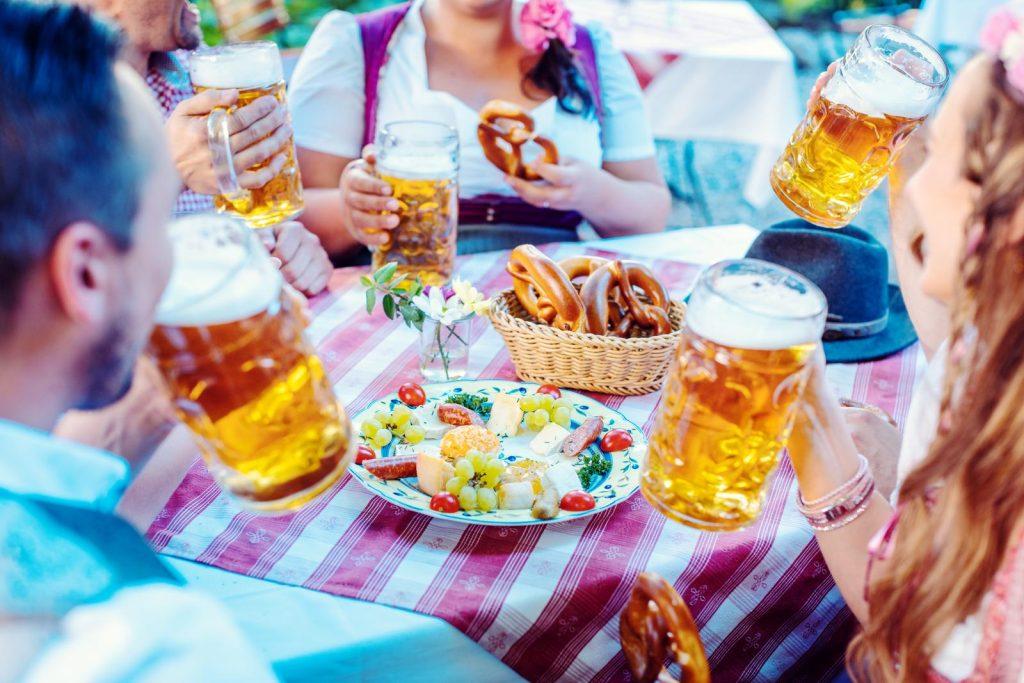 people enjoying food and drink